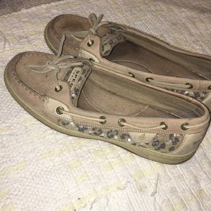 Sperry top-sider leopard print size 9